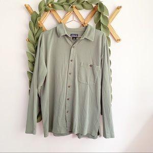 Patagonia Pique Green Long Sleeve Shirt/Jacket